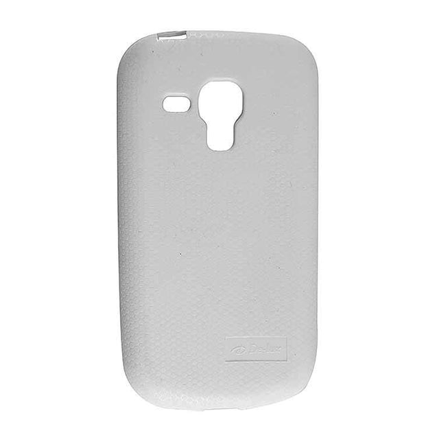 Samsung Galaxy S Duos 2 S7582 Back Cover Soft Back Case White