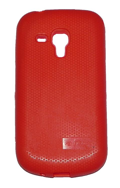 Samsung Galaxy S Duos S7562 Back Cover Soft Back Case Red