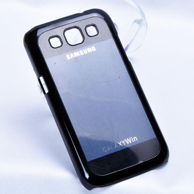 Samsung Galaxy Win i8522 Fashion Back Cover Case Dark Blue with Black