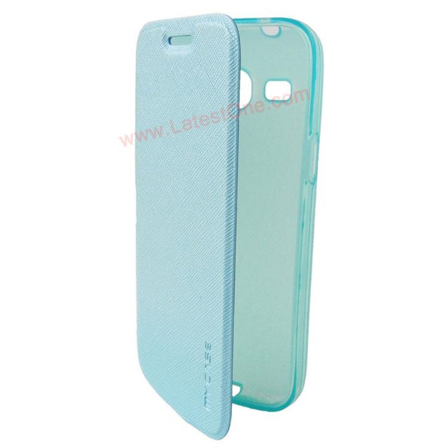 Samsung Galaxy Star 2 Plus G350E My Case Sparkle Leather Flip cover Sky Blue