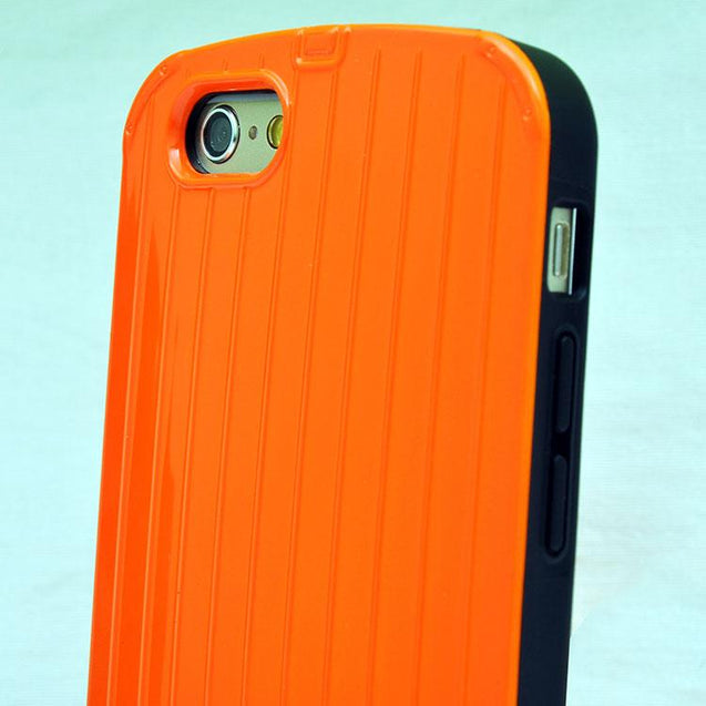 Slim Armour Silicone Hard Back Cover Case For Apple iPhone 6 Rugged cover case Orange