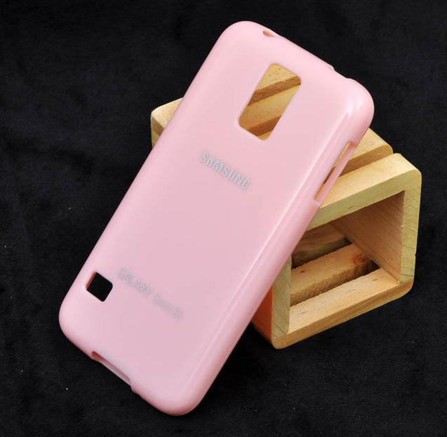 Samsung Galaxy S5 Soft Back Cover Case Light Pink