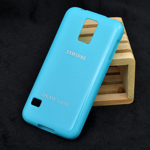 Samsung Galaxy S5 Soft Back Cover Case Sky Blue