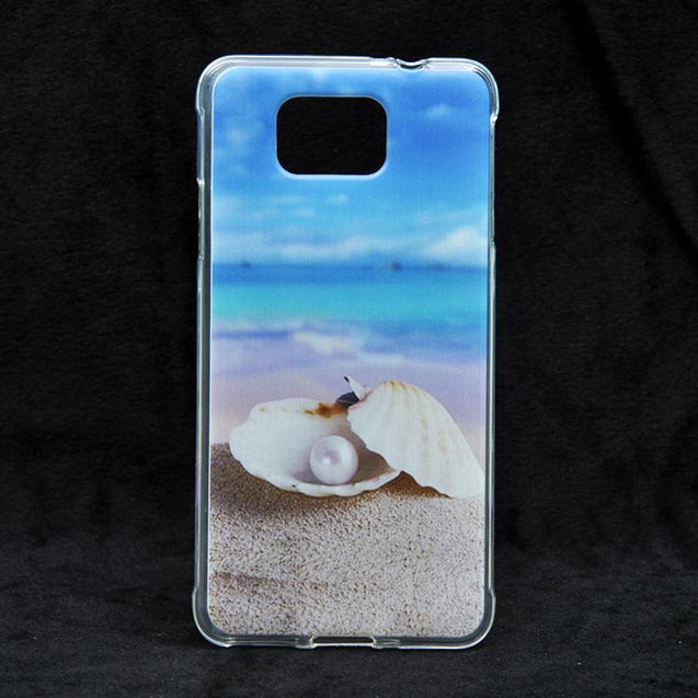 Samsung Galaxy Alpha G850 a pearl in a shell Design Printed Soft Back Cover Case