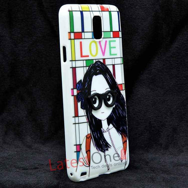 Samsung Galaxy Note 3 Soft Fashion 3D glasses girl Back Cover
