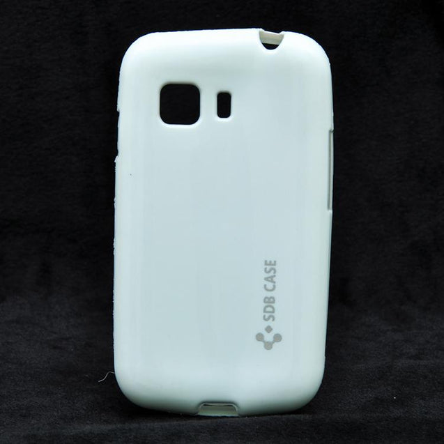 Samsung Galaxy Young 2 G130 Premium Luxury Soft Shiny Back Cover White