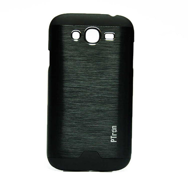 Samsung Galaxy Grand Neo Plus Back Cover PTron Metallic Hard Back Case (Black)