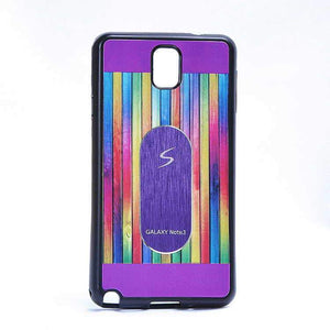 Samsung Galaxy Note 4 Multi Color TPU Back Cover Case Purple