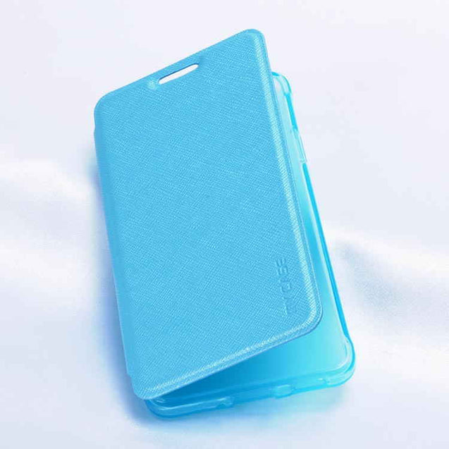 Samsung Galaxy Alpha G850F Sparkle Leather My Case Flip Cover Sky Blue