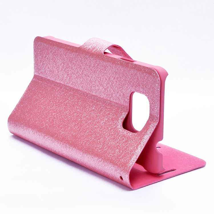 newest 63e88 c48ea Samsung Galaxy Alpha G850F Sparkle Leather My Case Magnetic Flip Cover  Light Pink