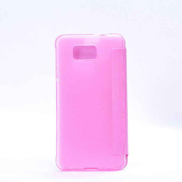 Samsung Galaxy Alpha G850F Sparkle Leather My Case Flip Cover Pink