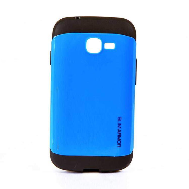 Samsung Galaxy Star Pro S7260S7262 Slim Armor Hard Back Cover Case Blue Black