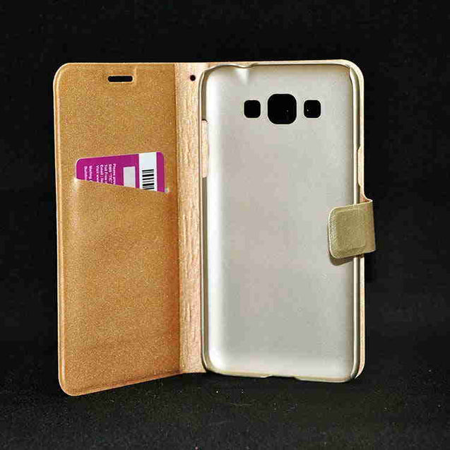 Samsung Galaxy Grand 3 Hallsen Flip Cover Case Gold