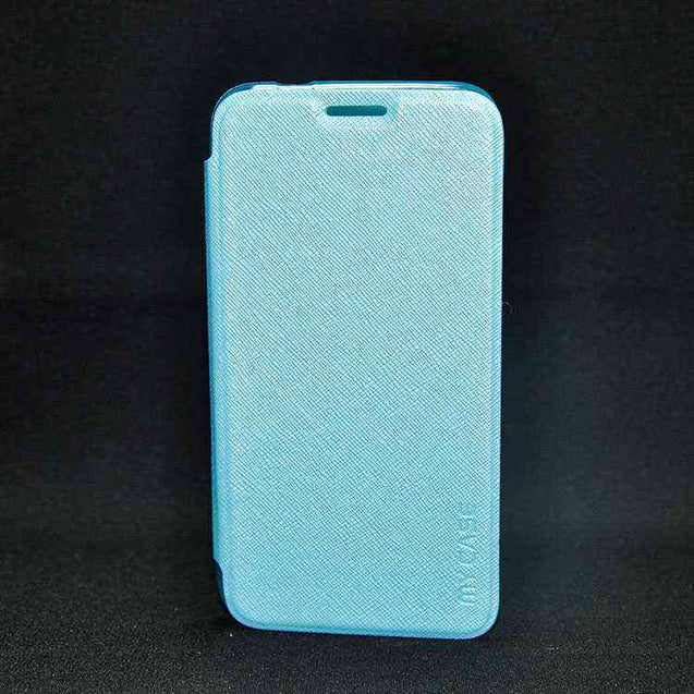Samsung Galaxy Grand3 Max G7200 Flip Cover Case Sparkle Leather cover Sky Blue