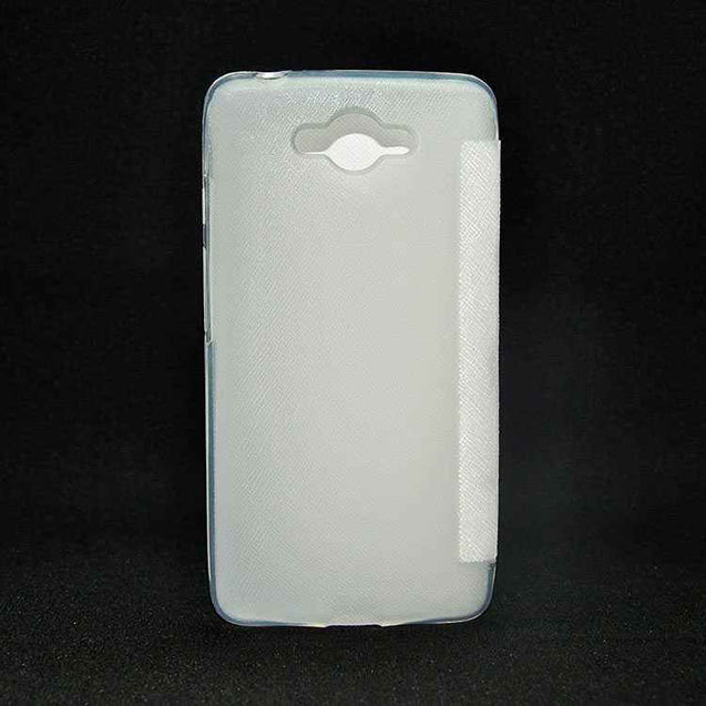 Samsung Galaxy Core Max Flip Cover case Sparkle leather cover White