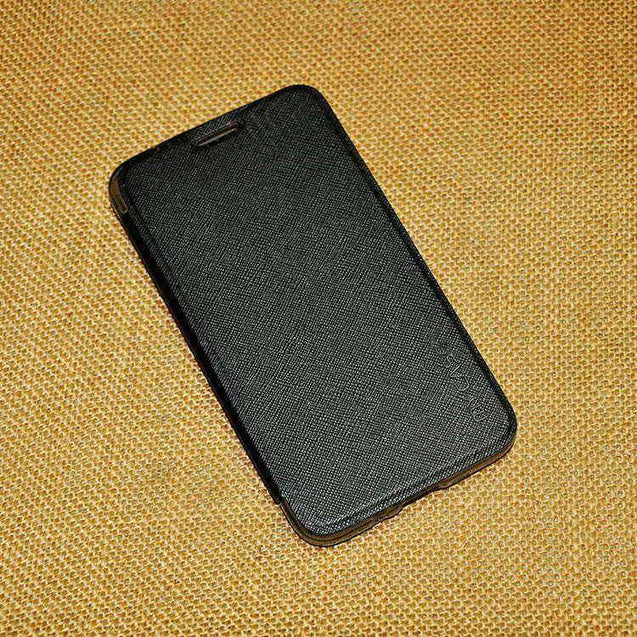 Samsung Galaxy Grand 3 G 7200 Flip Cover Premium Shiny Case Black