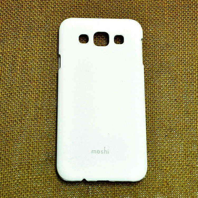 Samsung Galaxy E5 Hard Back Cover Moshi Case White