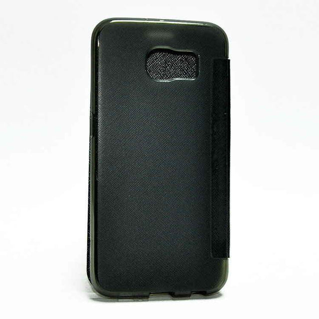 Samsung Galaxy S6 SM G920 Flip Flap Cover Caidea Leather Case Black