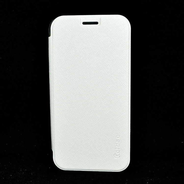 Samsung Galaxy S6 SM G920 Flip Flap Cover Caidea Leather Case White