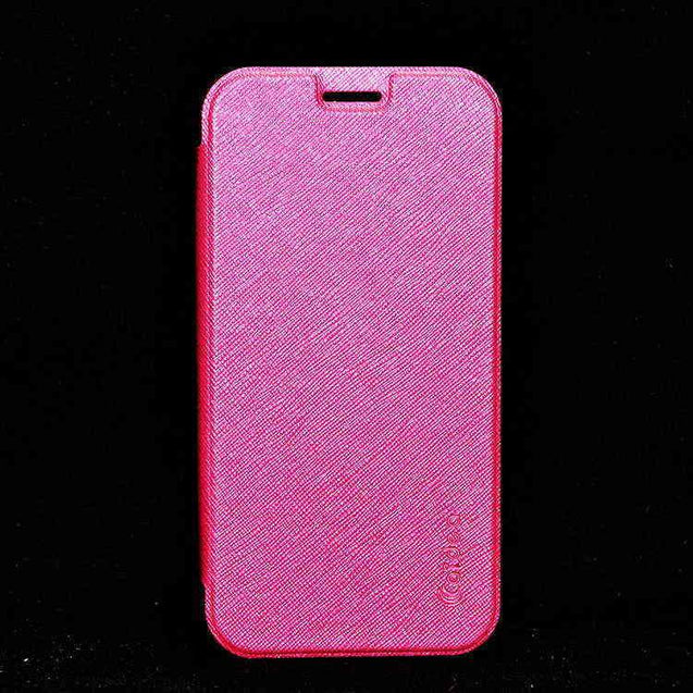 Samsung Galaxy S6 SM G920 Flip Flap Cover Caidea Leather Case Hotpink