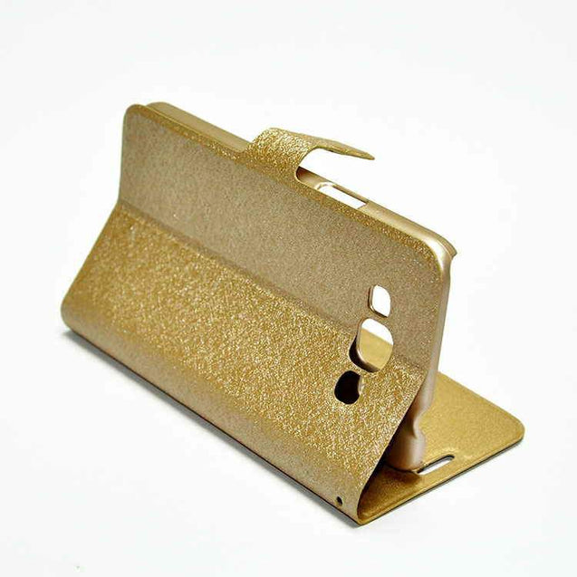 Samsung Galaxy Grand 3 G7200 Flip Cover Hallsen Magnetic Case Gold
