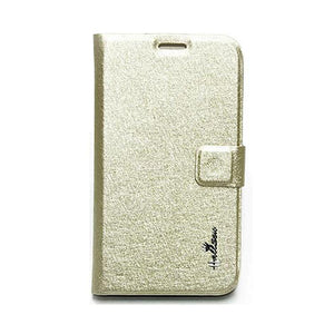 Samsung Galaxy Grand Flip Cover Hallsen Wallet Case Gold