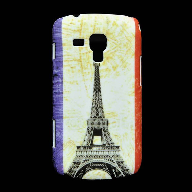 Samsung Galaxy S Duos S7562 Hard Back Cover Eiffel Tower Printed Design Case