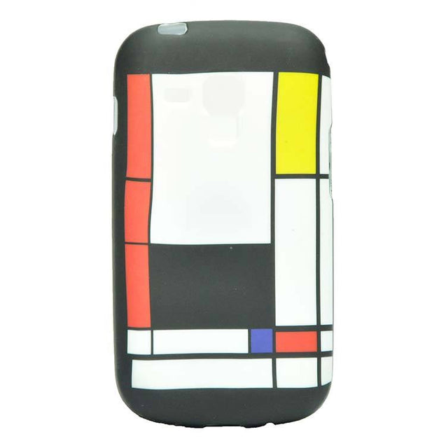 Samsung Galaxy S Duos 2 S7582 Back Cover Soft Printed Fashion Case Multicolor Black with White