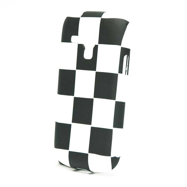 Samsung Galaxy S Duos 2 S7582 Back Cover Soft Fashion Case White Black Checks