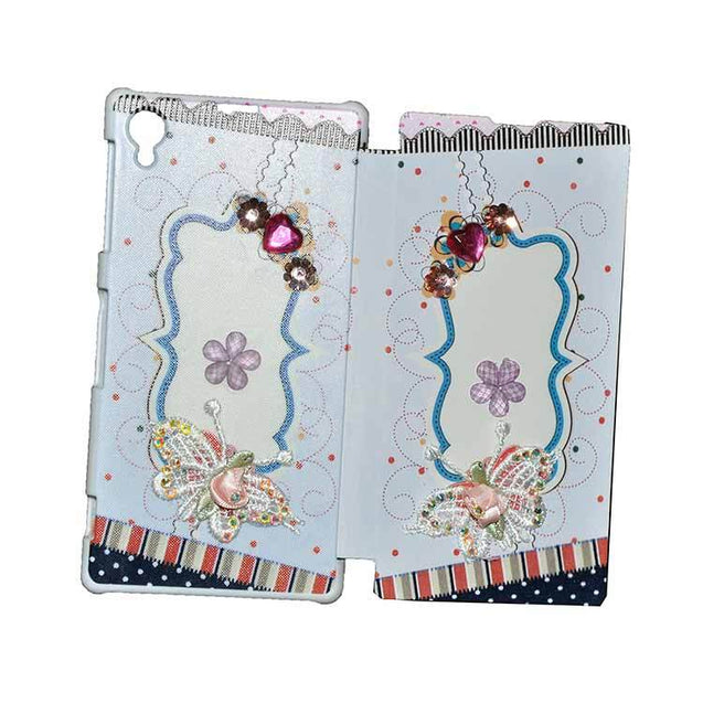 Sony Xperia Z1 Flip Cover 3D Butterfly Fashion Design Luxury Flip Case