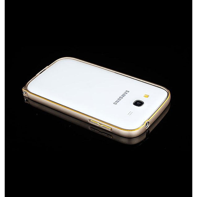 Samsung Galaxy Grand Metal Bumper Case Gold With Gold