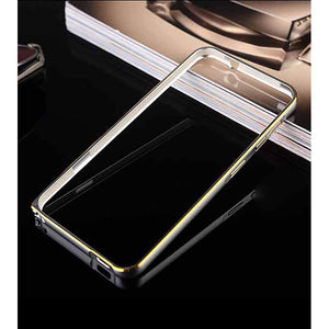 Samsung Galaxy Grand Metal Bumper Case Silver With Gold