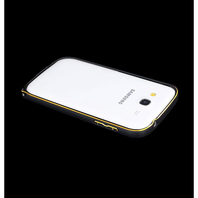 Samsung Galaxy Grand Metal Bumper Case Black With Gold