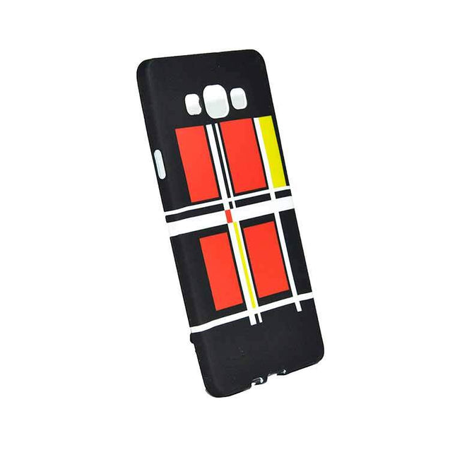 Samsung Galaxy A5 Back Cover Soft Printed Fashion Case Black With Red Yellow
