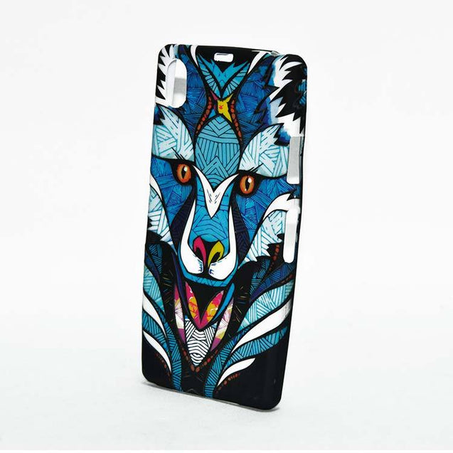 Sony Xperia Z1 Back Cover Soft Printed Abstract Lion Fashion Case Blue