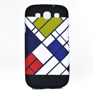 Samsung Galaxy S3 Neo/Neo Plus Back Cover Soft Printed Fashion Case Zigzag Lines Black White
