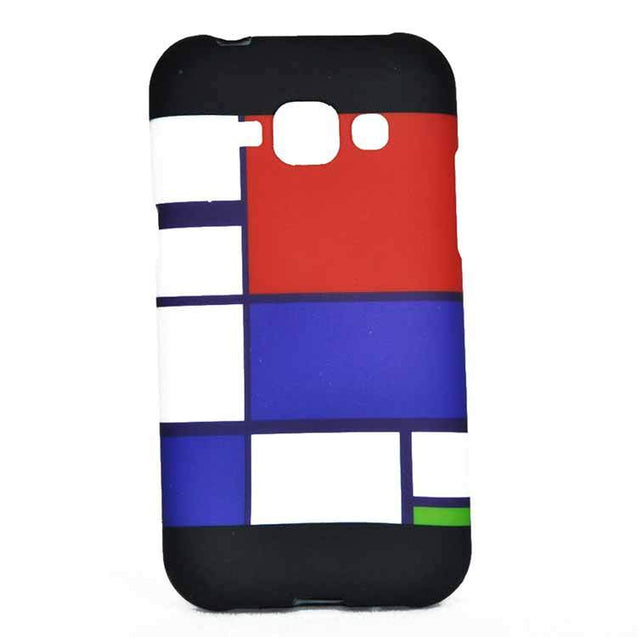 Samsung Galaxy J1 Back Cover Soft Printed Fashion Case Black With Red Blue