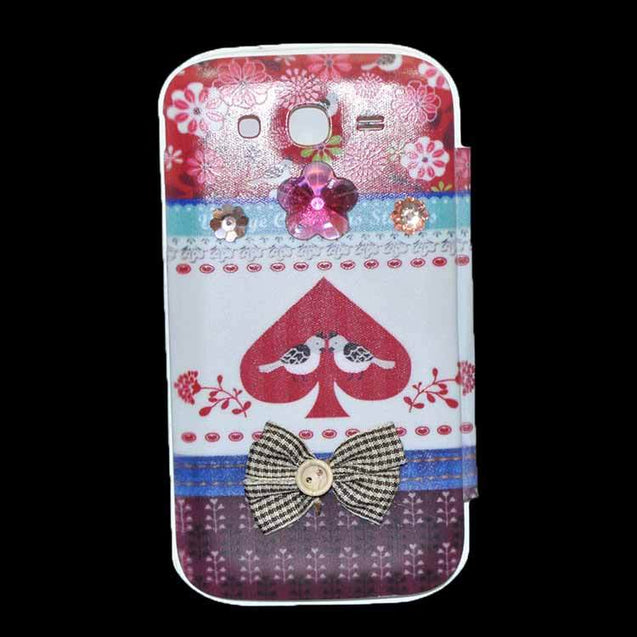 Samsung Galaxy Grand Flip Cover Fancy 3D Fashion Tri Color Design Flip Case