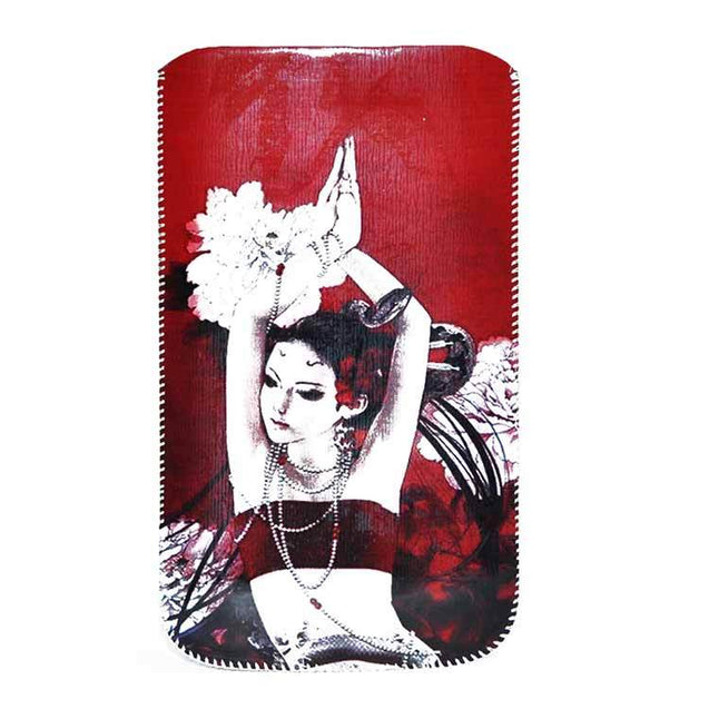 Smartphone Lady Dancing Pose Fancy Pullup Pouch XXL