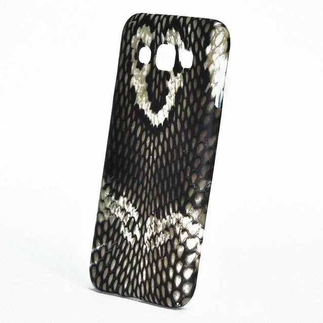 Samsung Galaxy E5 Back Cover Soft Printed Snake Fashion Case Brown