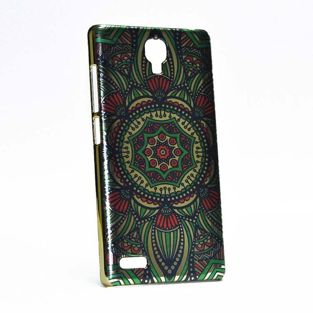 Xiaomi Redmi Note 4G / Redmi Note Back Case Eight Corner Design Printed Shiny Hard Case Multi Color