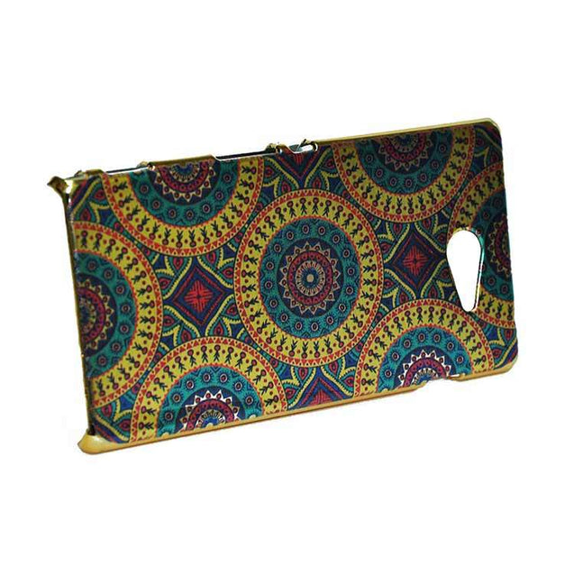 Sony Xperia M2 Back Cover Ethnic Printed Design Shiny Hard Case Multi Color
