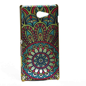 Sony Xperia M2 Back Cover Ethnic Printed Design Shiny Hard Case Multi Color.