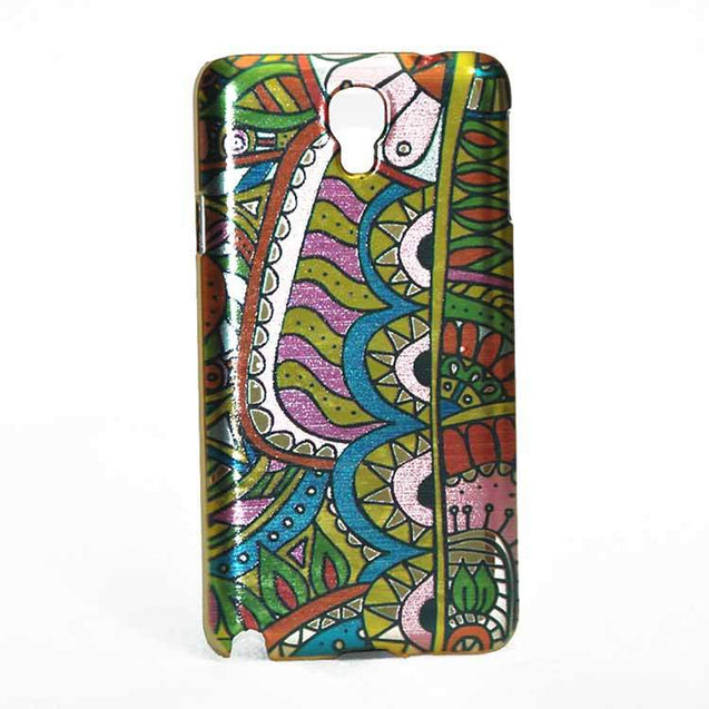 Samsung Galaxy Note 3 Neo Back Cover Ethnic Design Hard Case Shiny Multi Color
