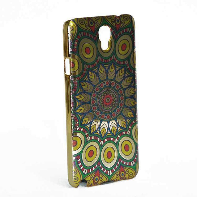Samsung Galaxy Note 3 Neo Back Cover Ethnic Cone Design Shiny Hard Case Green