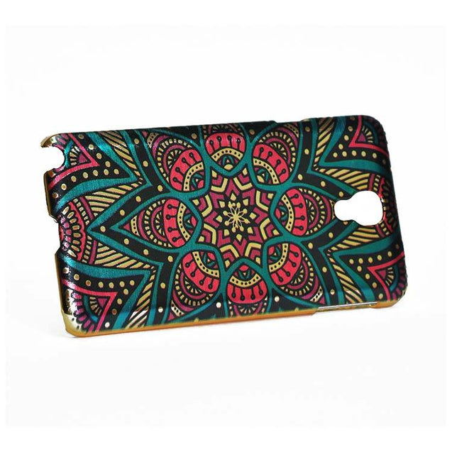 Samsung Galaxy Note 3 Neo Back Cover Printed Design Shiny Hard Case Multi Color