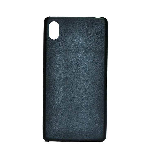 Sony Xperia Z3 Back Cover Leather Touch Soft Back Case (Black)