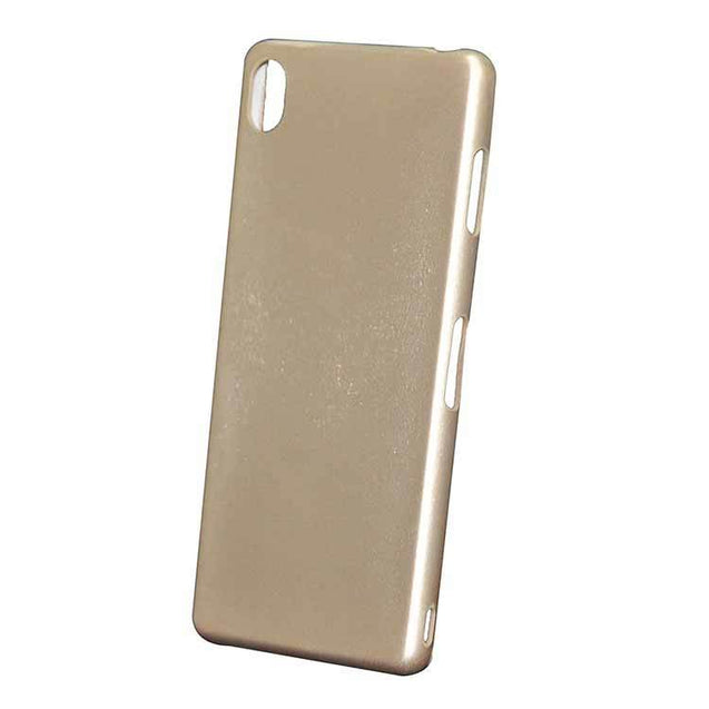 Sony Xperia Z3 Back Cover Leather Touch Soft Back Case (Light Gold)