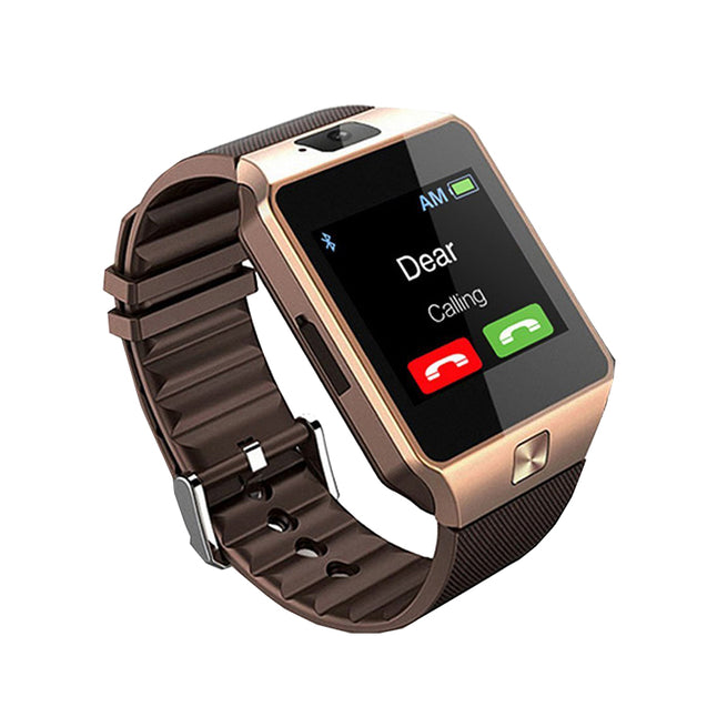PTron Tronite Bluetooth Smartwatch With Camera Wrist Watch For Motorola Smartphones (Bronze)