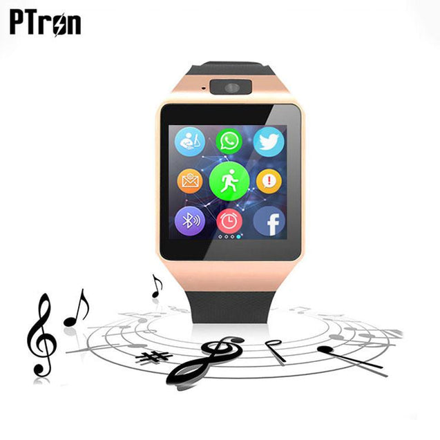 Ptron Tronite Bluetooth Smartwatch With Phone Support Camera For HTC Desire 816 (Bronze)